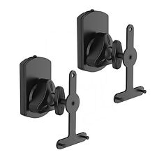 SONOS PLAY 1 & 3 - PAIR OF PIVOT TILT ROTATE SPEAKER WALL MOUNTS BRACKET BLACK