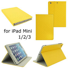 Ultra Luxury Leather Smart Case Cover for Apple iPad Mini 1/2/3 Skin Grid Book