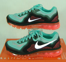 """New Womens 9 NIKE """"Air Max 2014"""" Hyper Turquoise Punch Run Shoes $180 621078-303"""