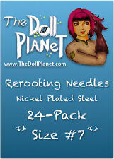24 Pack #7 Rerooting Needles Steel for My Little Pony Ever After High Dawn Dolls