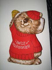 """VTG Shirt Tales Christmas Plush Smile Br-r-ringer Pillow Pal Koala Bear 16.5"""""""