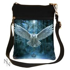 SHOULDER BAG LADIES AWAKEN YOUR MAGIC OWL IN FLIGHT ANNE STOKES PENTAGRAM NEW