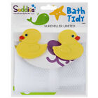 DUCK BABY BATH TOYS TIDY STORAGE NET BAG - 2 HANGING SUCTION CUPS BATHROOM