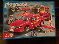 Playmobil 4321 Red Racecar in Tuning Shop NEW in Box