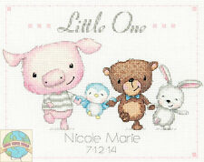 Cross Stitch Kit Dimensions Little One Cute Animals Baby Birth Record #70-74132