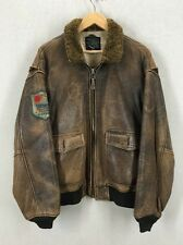 Avirex WW2 Flying Tigers G-1 BuAer Blood Chit Leather Flight Jacket M