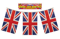 10 Packets of Union Jack GB 110 Flags Bunting 120 feet long 37m