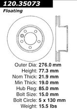 "Front Brake Rotor/Disc 15"" rims 2004-2006 Dodge Freightliner Sprinter"
