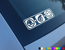 SKODA PLUS BOOST EQUALS SMILES CAR STICKER DECAL FUNNY TURBO FABIA OCTAVIA VRS