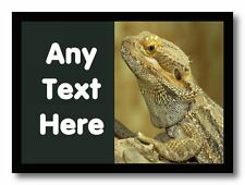 Bearded Dragon Lizard Personalised Computer Mouse Mat