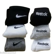 Combo Set of 6 pairs Reebok and Nike logo Sports ankle length Socks