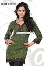 Indian Bollywood Kurta Kurti Designer Women Ethnic Dress Top Tunic Pakistani L42