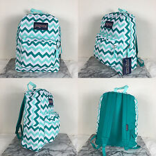 2016 Jansport Superbreak Backpack Aqua Dash Zou Bisou 100% AUTHENTIC School
