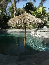 9' Collapsible Thatch Bamboo & Sea Grass Folding Umbrella 9 Ft Commercial TikiFB