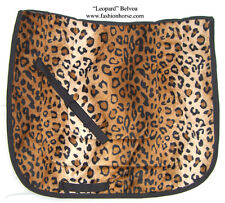 "BROWN ""LEOPARD""  PRINT designer DRESSAGE SADDLE PAD - animal print"