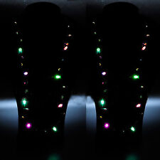 Flashing Christmas Light Bulb Necklace LED Holiday Glow Flashing Lights Blinking