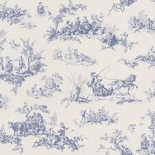 Blue Toile de Jouy Wallpaper Paste the Wall Lazy Sunday by Rasch 451801