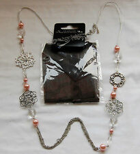 10 Item Pieces Necklace Wholesale Stock Clearance Lot Pink Pearl Type Dress 36""
