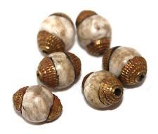 Nepal bead 6 Nepalese Beads Tibet Beads handmade beads conch shell beads B32