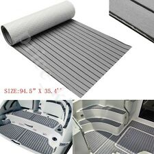 2.4M EVA 6MM Grey Flooring Synthetic Teak Foam Boat Decking Sheet Self-Adhesive