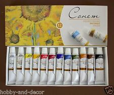 SONNET ARTISTS OIL PAINT SET 12 colors in tubes 10 ml  RUSSIA Nevskaya palitra