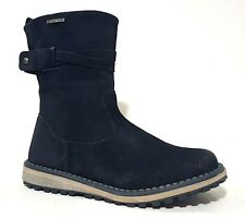 CIAO Kids Girls Boots Snow LEATHER Navy Size 3 USA/35 EURO.Regular Price $120