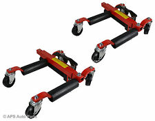 2x 1500lb Hydraulic Wheel Dolly Skates Car Vehicle Positioning Jack Tire Tyre