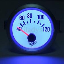 "Car Auto 2"" 52mm Blue LED Water Temperature Temp Gauge Pointer Meter White 12V"