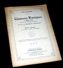 chansons rustiques 2 voix chantées à l'unisson mélodie populaire Maurice Bouchor