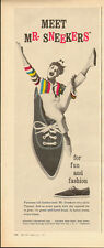 1962 Vintage ad for Mr. Sneekers`Pointed toe`Tennis Shoes/Clown (120713)