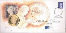 GB QEII PNC COIN COVER 1995 WILLIAM WYON MEDAL / COIN ROYAL MAIL / MINT