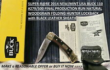 2014 VERY-RARE NEW/MINT USA#279/500 BUCK BU110FR 50th ANNIVERSARY LOCKBACK KNIFE