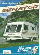 BAILEY SENATOR 2000, 4000, 5000, 6000 & 7000 CARAVAN SALES BROCHURE 1990 +PRICES