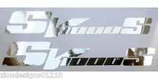 SV 1000 S silver chrome motorcycle graphics decals stickers x 2 pieces