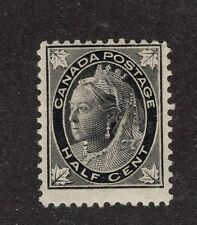 Canada #66 1/2c black MLH OG   QV 'MAPLE LEAF' issue 1897