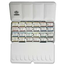 Schmincke Horadam Artists Watercolour 24 Whole Pan Metal Box Set - 74324097