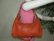 Coach F19761 Ashley Orange Leather Hobo Shoulder Bag Handbag Tote