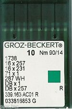 GROZ BECKERT INDUSTRIAL SEWING MACHINE NEEDLES 16x231 DBX1 SIZE 14/90