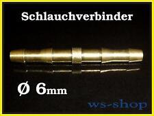 Schlauch Verbinder Schlauchverbinder 6 mm Übergangsstück aus Messing Autogen Gas