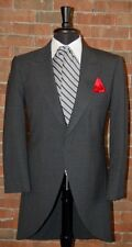 MENS 46 S  CHARCOAL GREY CUTAWAY JACKET TUXEDO MORNING COAT VICTORIAN