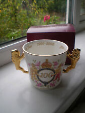 Royal Albert Cup Queen Mother 100th Birthday 1900 - 2000 Boxed Lionhead