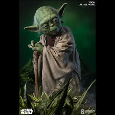 "SIDESHOW star Wars Yoda Life-Size 1:1 Scale Figure 32"" Statue NEW SEALED"