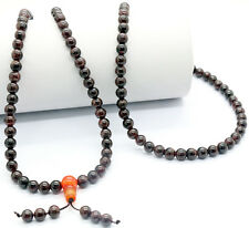 6mm Genuine Garnet Beads Tibet Buddhist Prayer Beads Mala Necklace Bracelet