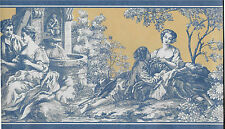 Toile - Blue and Yellow WALLPAPER BORDER