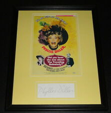 Phyllis Diller Signed Framed 11x14 Photo Display Did You Hear the One About..