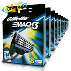 10x Gillette Mach3 Replacement Blades Cartridges Pack of 8 Genuine (80 Blades)