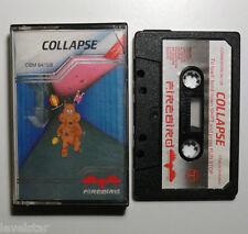 COLLAPSE C64 FIREBIRD Cased Commodore 64 Game Cassette Tape