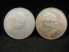 (2) 1965 Winston Churchill Commemorative Crown Coin Lot 30D