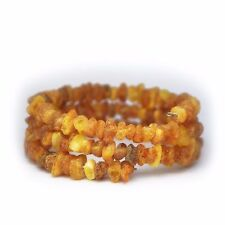 Raw butterscotch natural Baltic amber bracelet 16 gr