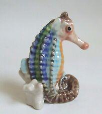 * High Quality Handmade Miniature Ceramic Seahorse Figurine *